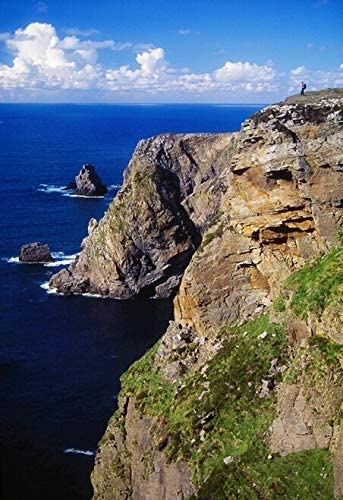 Amazon Com Arranmore Island County Donegal Ireland Hiker On Coastal Cliff Poster Print 24 X 36 Posters Prints