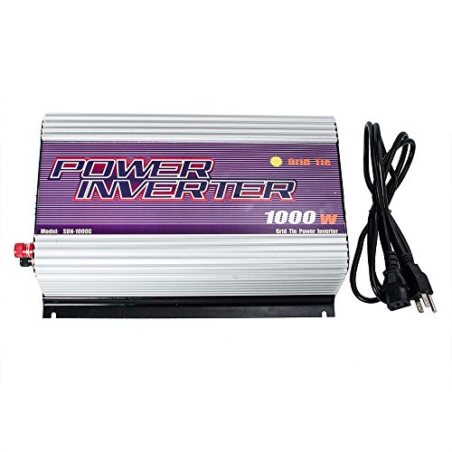 iMeshbean® LCD 1000W Solar Gird Tie Inverter MPPT Pure Sine Wave DC 22V-60V TO AC 110V/120V USA by mass power
