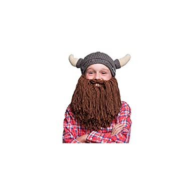 4c2e8649f34 Image Unavailable. Image not available for. Color  Beardo - Horned Viking Beard  Hat (Kids)