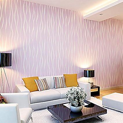 Rugai Ue Simple Plain Stripe Wallpaper Green Modern Cozy Living Room
