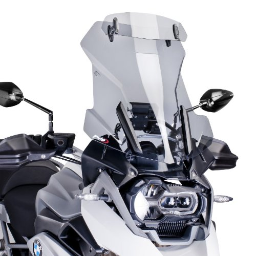 Puig 6504H Light Smoke Touring Windshield with Visor