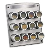 Kamenstein Magnetic 12-Jar Spice Rack with Easel