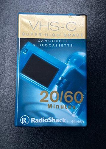 VHS-C Super High Grade Camcorder Videocassette 20/60 Minute Radioshack