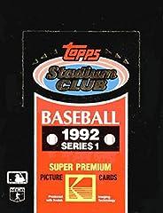 1992 Topps Stadium Club Baseball Series 1 Unopened Box