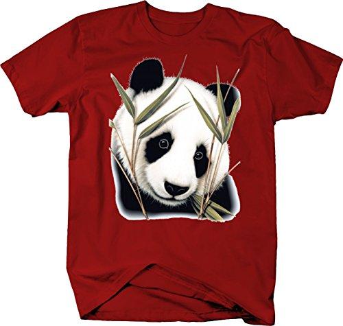 Peeking Panda Bushes Cute Custom Tshirt - ()