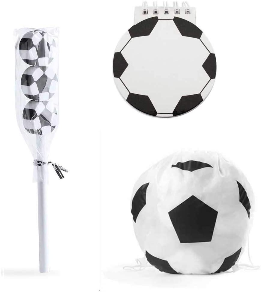 Lote 6 Mochilas, libreta y lápiz con Gomas de borrar diseño Fútbol ...