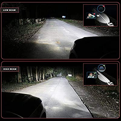NATGIC 9007 HB5 Led Headlight Bulbs, Super Bright 16000LM 16 XHP50 Chips 6500K Hi/Lo All-in-one Waterproof Car Headlamp Conversion Kits, DC 9-32V, Pure White, 2 Yr Warranty (Pack of 2): Automotive
