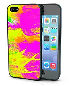 Pink and Yellow Bird Art Black Plastic Cover Case for iphone 6 plus 5.5