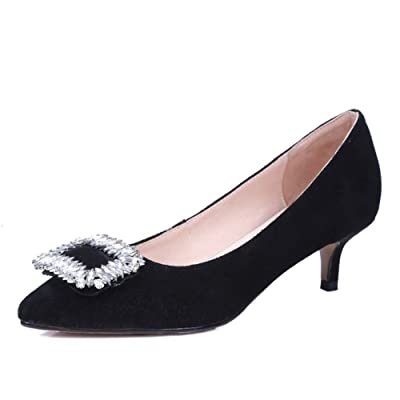 Spring/Autumn thin shoes/Shallow black side buckle Lady shoes/ in the wee small boat shoes