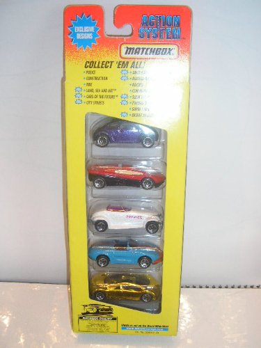 Matchbox Cars of the Future New theme 5 Pack 1996 Very Rare