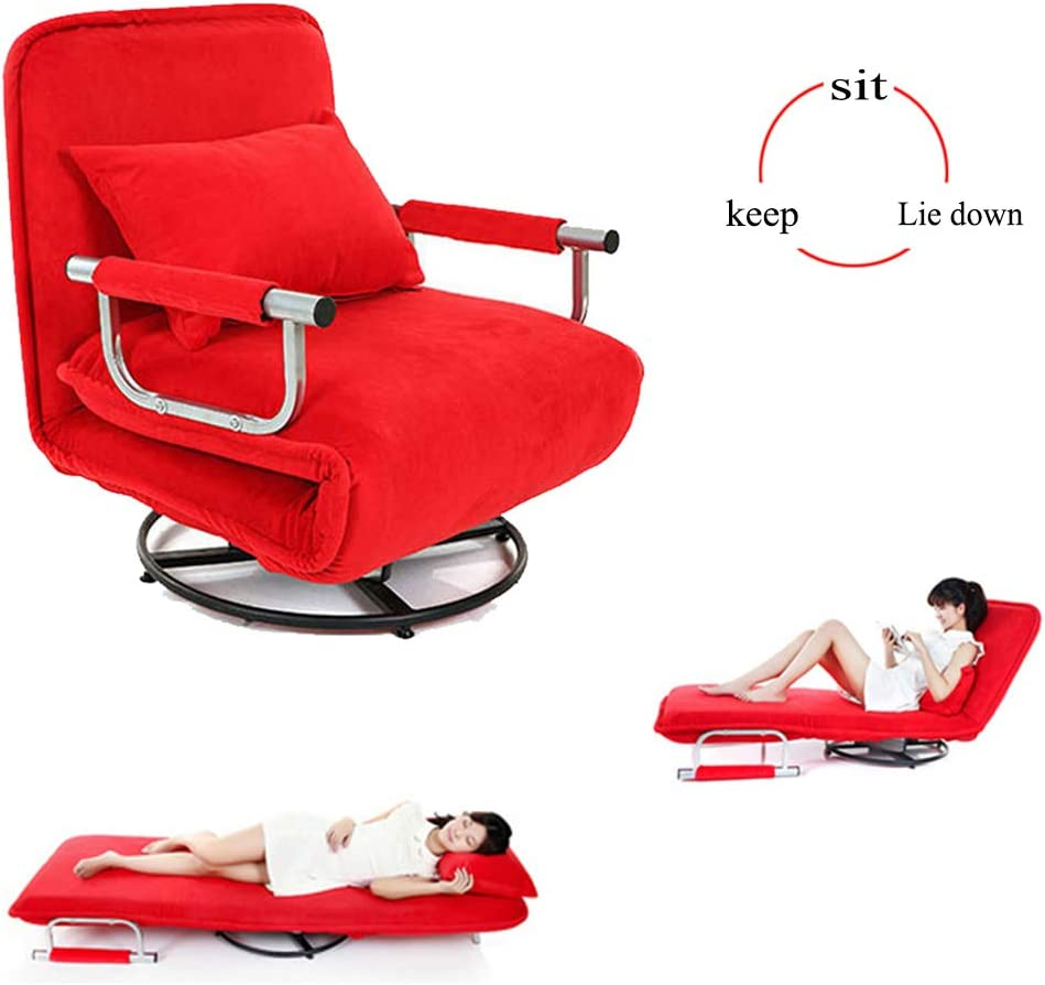- Folding Sofa Chair 360°Rotate 2-in-1 Multifunctional Office Chair