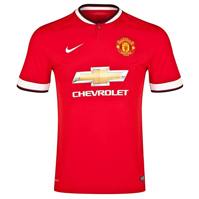 separation shoes 4b4e6 a1d74 Nike Boy's Manchester United Home Stadium Short Sleeve Jersey