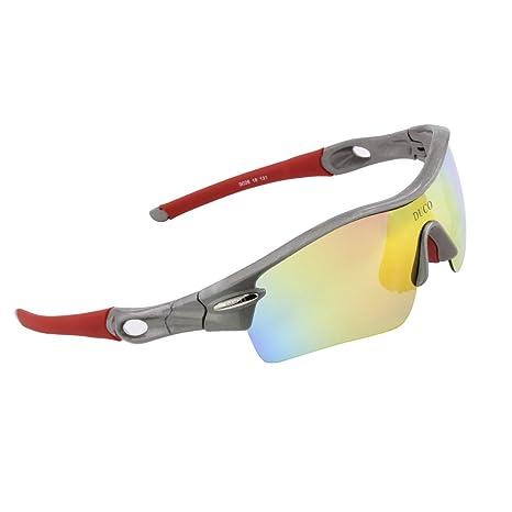Duco 0026 - Gafas de sol polarizadas con 5 lentes intercambiables, protección UV400, para