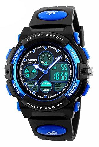 PHCOOVERS Kid's Boys Girls Digital LED Multifunction Week Alarm Back Light Outdoors Wrist Watch