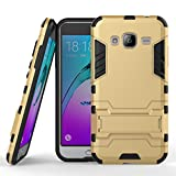 J3 case, Galaxy Express Prime Case, Pasonomi® [Outdoor] [Kickstand Feature] Hybrid Dual Layer Armor Defender Protective Case for Samsung Galaxy J3 / Express Prime / Amp Prime, Golden