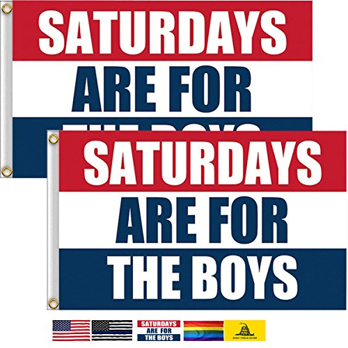 LSIKA-Z Saturdays Boys Flag, 2 Pack 3 x 5 Foot with 2 Brass