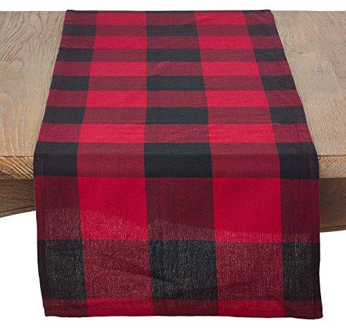 Fennco Styles Holiday Buffalo Check Plaid Design Cotton Table Runner (16