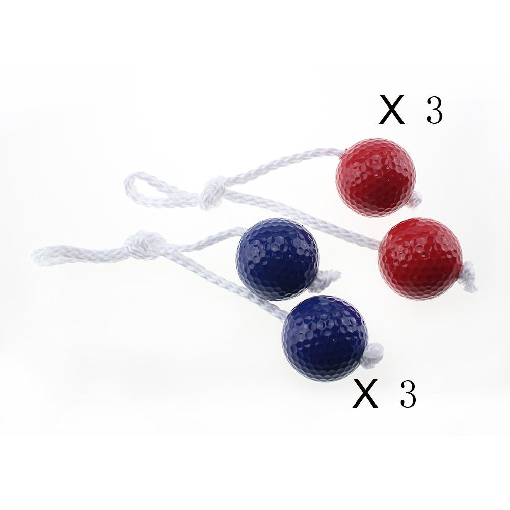 Adahill(TM) Golf Ball Game Ladder Toss Game Colorful with 3 Pairs 2 Layer Practice Golf Training Ball (6 Pairs Ball Set)