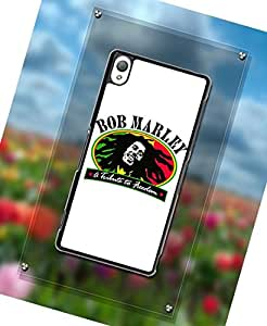Xperia Z3 Funda Case,Funda Case For Xperia Z3,Bob Marley Design Durable Hard Rubber Plastic Material Funda Case Cover For Sony Xperia Z3
