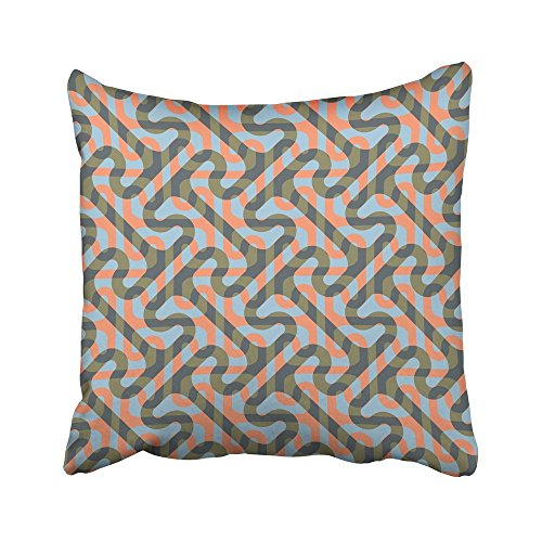 Emvency Throw Pillow Covers Cases Greek Modified Cross Tee Pattern Key Geometric Print Decorative Pillowcases 18