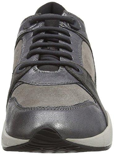 Geox D Omaya A - Zapatillas para mujer Gris - Grau (C1130GRAPHITE/GREY)