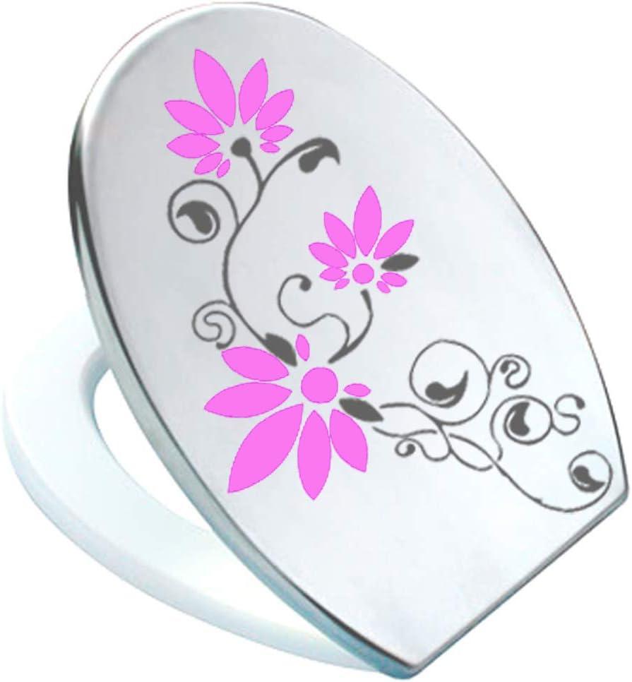 Pressalit Antracita//rosavinyl Grafix/ /Adhesivo Decorativo para Tapa de Inodoro