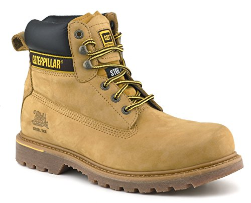 Caterpillar Mens Holton Nubuck Leather Goodyear Welted Safety Boot Honey outlet new clearance manchester great sale cheap best store to get outlet free shipping authentic clearance hot sale Rw1gCZkuO