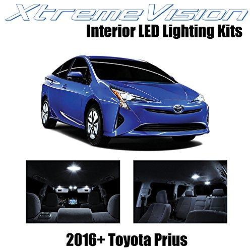 XtremeVision Interior LED for Toyota Prius 2016+ (10 Pieces) Pure White Interior LED Kit + Installation Tool Tool