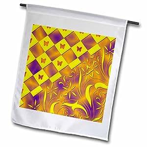 Edmond Hogge Jr Butterflies - Yellow Mystic Butterfly Design - 12 x 18 inch Garden Flag (fl_51651_1)