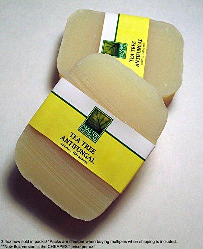 2 Pack - Tea Tree Antifungal Soap - 3.4oz Hand Made -