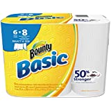 """Bounty 92981 Basic Select-A-Size Paper Towels, 5 9/10"""" x 11"""", 1-Ply, White (Pack of 6)"""