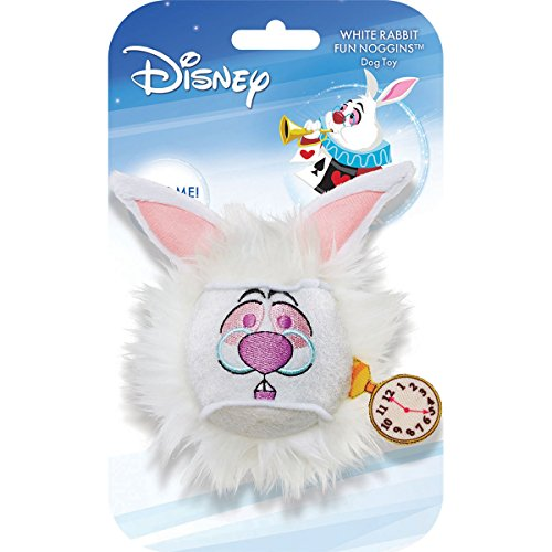 Disney Fun Noggins Alice in Wonderland White Rabbit Dog Toy]()