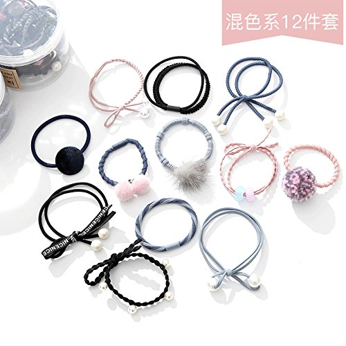 usongs Ponytail small fresh cute adult high elastic and durable line tied rope hair ornaments personalized salon hair rope rubber band