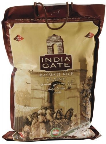 India Gate Extra Long Grain Classic Basmati Rice - 10 Lbs. (4.54 Kg) by India Gate