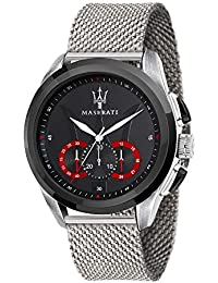 Men's 'Traguardo' Quartz Stainless Steel Fashion Watch, Color:Silver-Toned (Model: R8873612005)