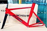 Aero S7 Fire Engine Red 50cm Fixed Gear Frame