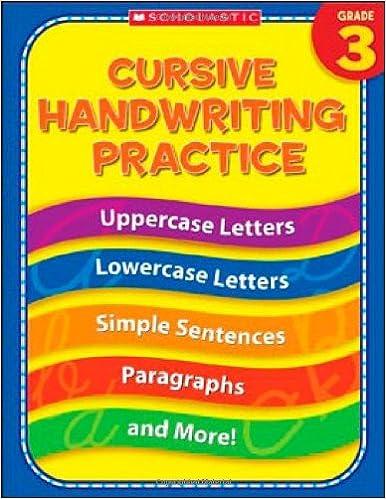 Amazon.com: 3rd Grade Cursive Handwriting Practice (Practice ...