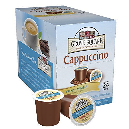 Grove Square Cappuccino, French Vanilla, 24 count
