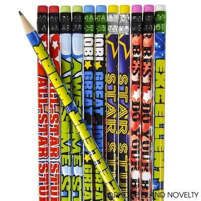 2 DOZEN (24) Great Work DO Your Best AWESOME Student - Motivational PENCILS #2 Lead - PARTY FAVORS - CLASSROOM Rewards -