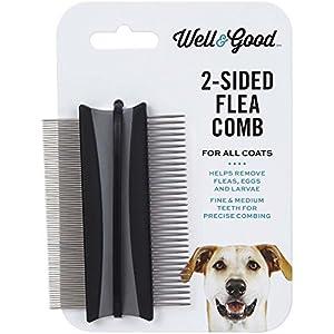 """Well & Good 2-Sided Dog Flea Comb, 3"""" L X 2"""" W 52"""