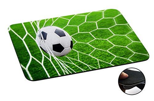 1547 - Cool Fun Trendy Football Soccer Goal Sports Ball Score Design Macbook PC Laptop Anti-slip Mousepad Mouse Mat Tpu Leather-Slim 3MM