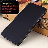 Taslar Redspot Crazy Horse Flip Stand Back Cover Case For Xiaomi Mi Max, Mi Max Prime 6.44 inch Hard Durable(Black)