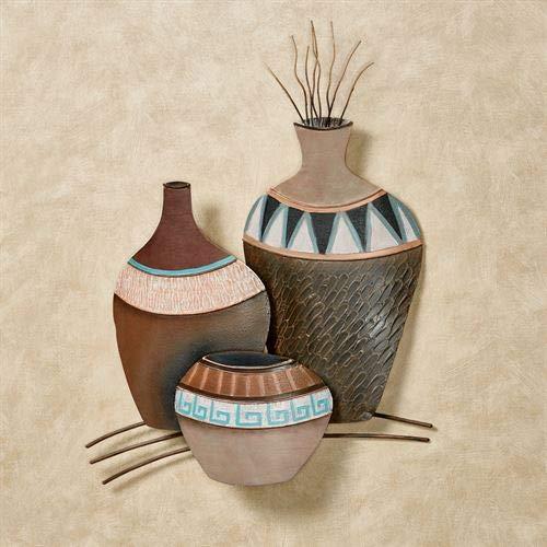 (T.i./New Metal Design Clay Pots Trio Wall Art Multi Earth)