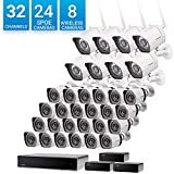 Zmodo 32 Channel Network NVR Security System 24 sPoE +8 Wireless Outdoor IP HD Camera Flexible Installation w/ sPoE Repeater for Flexible Extension