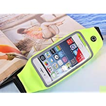 Running Belt Waist Pack with Zipper for iPhone 6, 6S, 6 Plus, 6S Plus, Samsung Galaxy S5, S6, S7,Edge, Note 3, 4, 5, LG G3 G4 G5 with OtterBox/ LifeProof Waterproof Case