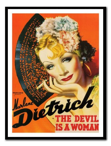 Iposters Marlene Dietrich Devil Is A Women Movie Print Magnetic Memo Board Black Framed - 41 X 31 Cms (approx 16 X 12 Inches)