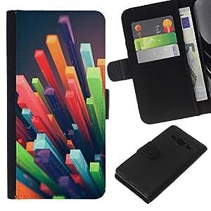 KingStore / Leather Etui en cuir / Samsung Galaxy A3 / 3D Art abstrait plastique