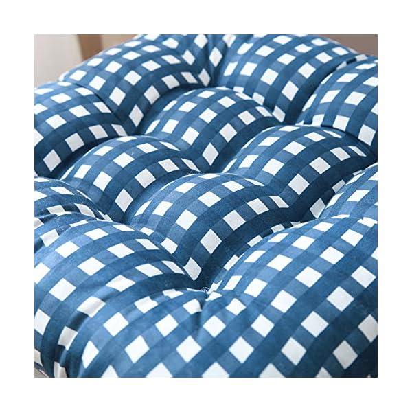 WDOIT - Cuscino per Sedia, particolarmente Imbottito, per mobili in Rattan, da Giardino, Stile 3, 40 * 40cm 4 spesavip