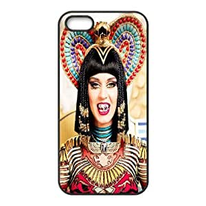 Katy Perry Psychedelic Cleopatra Pop Star iPhone 5,5S Cases, Luxury Case For Iphone 5s Protective Bloomingbluerose - Black