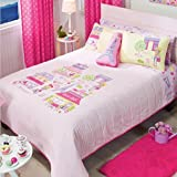 PARIS CHIC EIFFEL TOWER FRENCH,TEEN GIRLS REVERSIBLE COMFORTER SET AND SHEET SET 9 PCS FULL/QUEEN SIZE